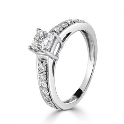18kt White Gold Diamond Ring 0.75ct