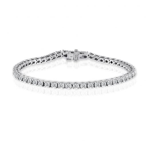 14kt Diamond Tennis Bracelet 5.7ct