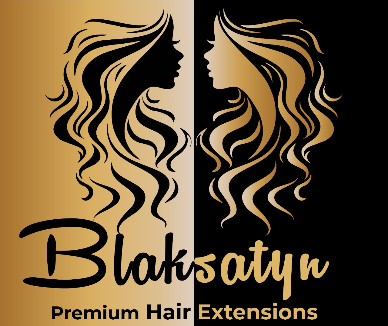 Blaksatyn banner for hair extensions wigs closures frontals clip-on Virgin human hair